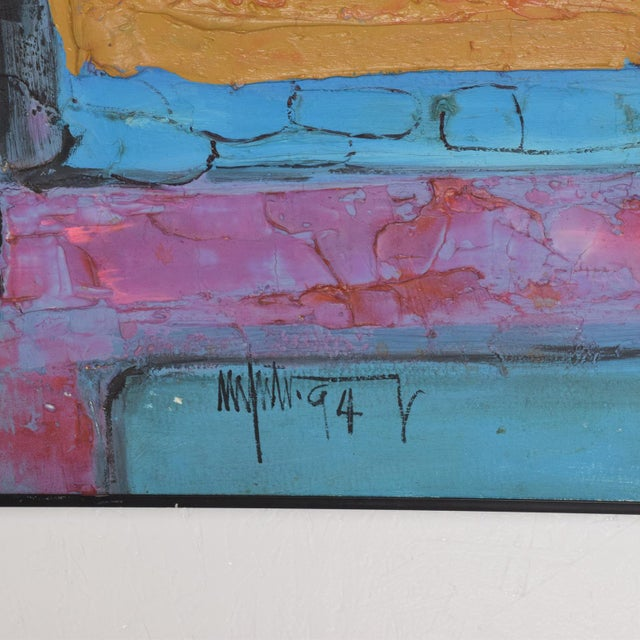 Canvas Modern Abstract Oil on Canvas, Signed 1994 For Sale - Image 7 of 11