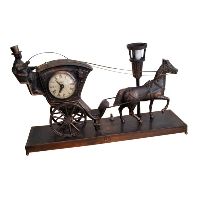 Horse Drawn Carriage Clock For Sale