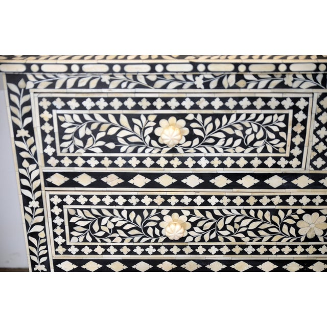 Moroccan Inspired Bone Inlay Dresser For Sale - Image 5 of 7