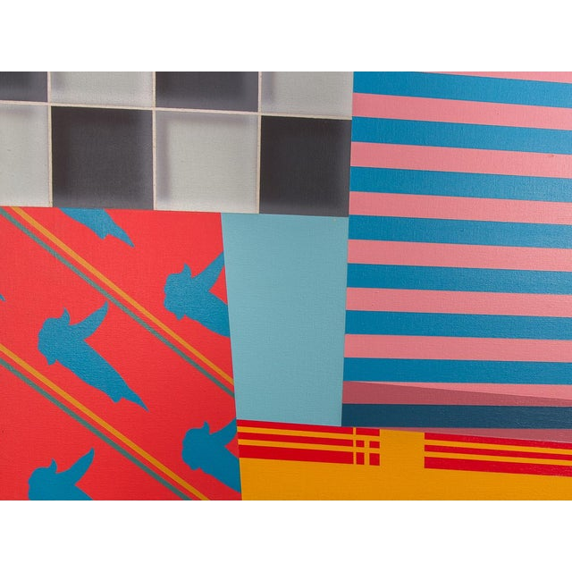 Acrylic Paint Trio of Large-Scale 1980s Abstract Paintings - 3 Pieces For Sale - Image 7 of 10