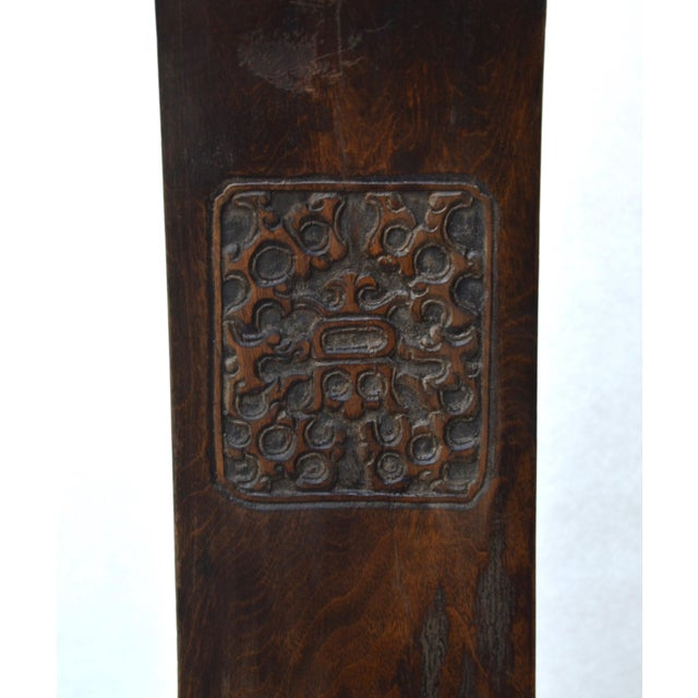 Antique Pair Tall Chinese Scholar Chairs For Sale - Image 11 of 12