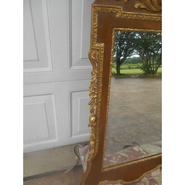 1980s Friedman Brothers Mahogany & Gold Georgian Mirror For Sale - Image 5 of 8