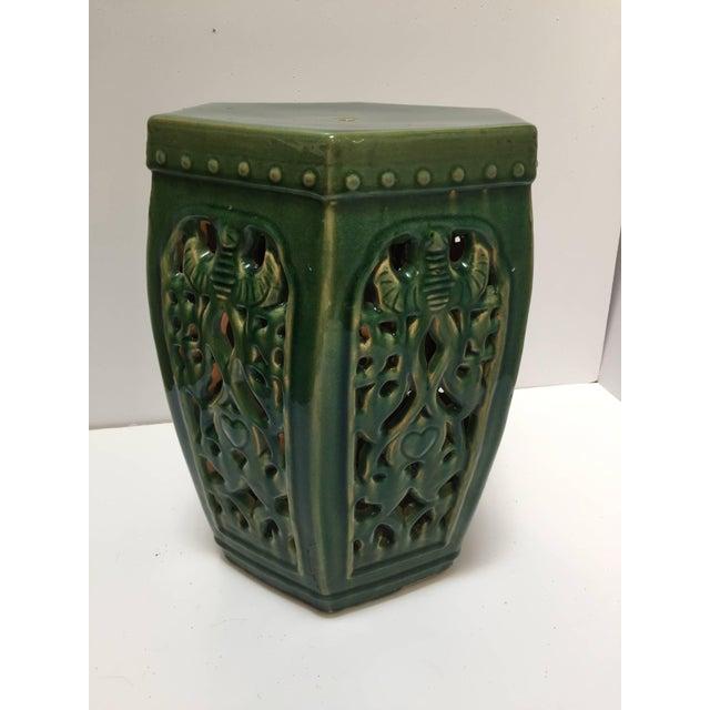 green green chinese ceramic garden stool for sale image 8 of 8 - Ceramic Garden Stool