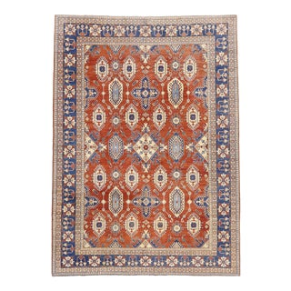 Vintage Persian Shiraz Style Rug, 11'09 X 16'03 For Sale