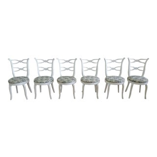 1940s Hollywood Regency Dorothy Draper Style Dining Chairs - Set of 6