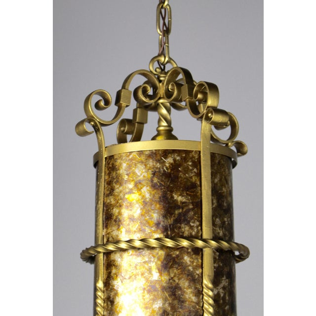 Gold Spanish Colonial Mica Cylinder For Sale - Image 8 of 8