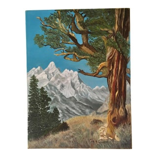 Late 20th Century Vintage Eastern Sierra's Landscape Oil Painting For Sale
