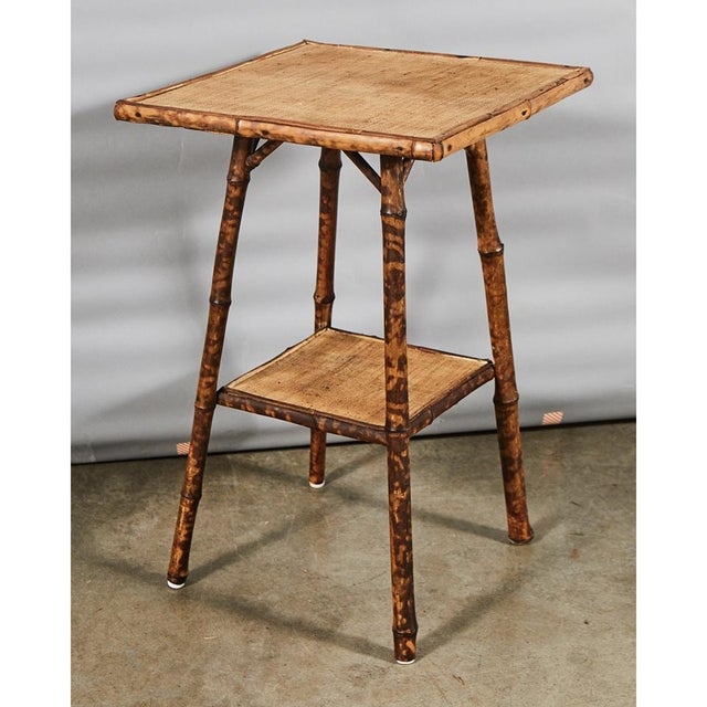 Tiger Bamboo Table For Sale - Image 4 of 6