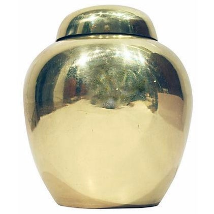 Solid Brass Lidded Urn - Image 1 of 4