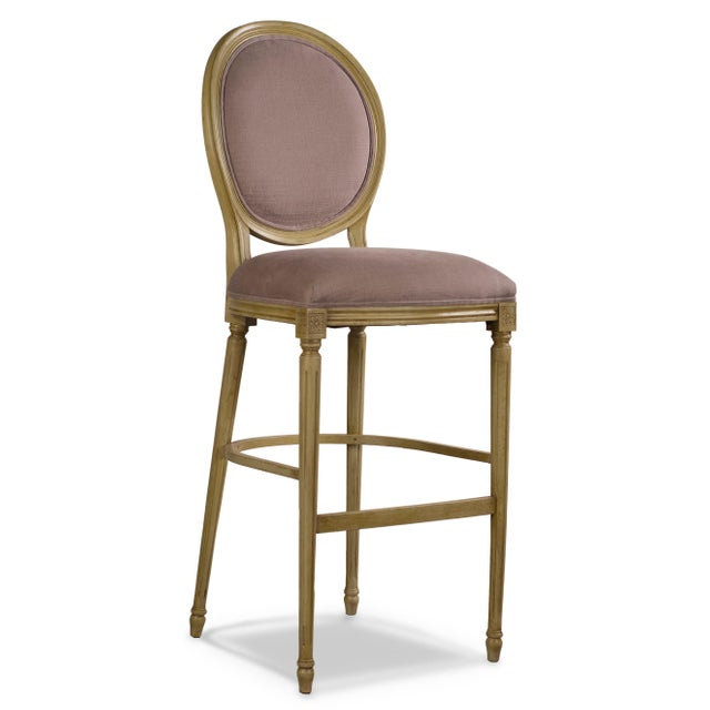 Sarreid LTD Louis XVI Round Back Bar Stool - Image 3 of 4