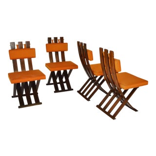 "Harvey Probber ""X"" Dining Chairs - Set of 4 For Sale"