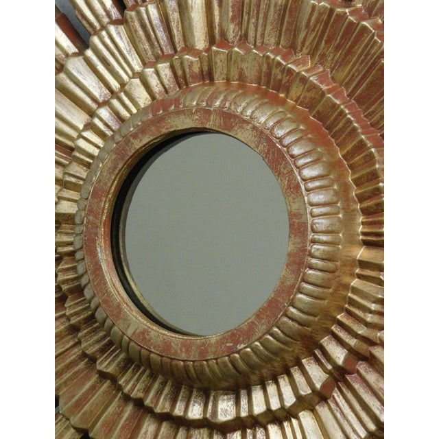 Small Gold Gilt Sunburst Mirror For Sale - Image 12 of 13
