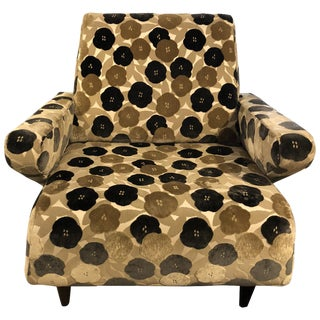 21st Century Floral Lounge Chair For Sale