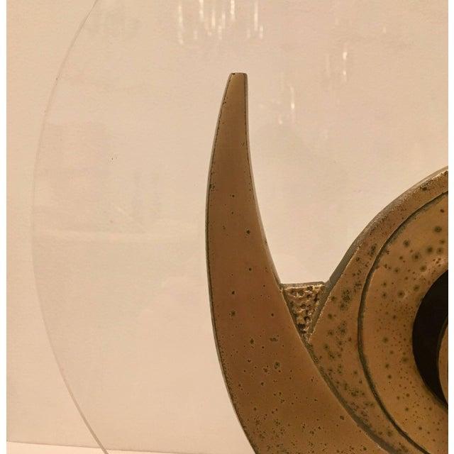 1960s 1960s Giuseppe Calonaci Bronze Sculpture Table Lamp For Sale - Image 5 of 8