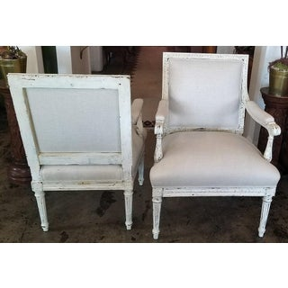 Louis XVI Style Pair of Painted Armchairs Preview