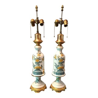 French Porcelain Table Lamps - A Pair
