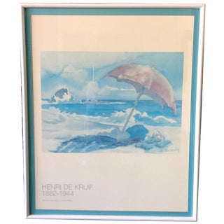 Beach Gallery Lithograph by Henri De Kruif