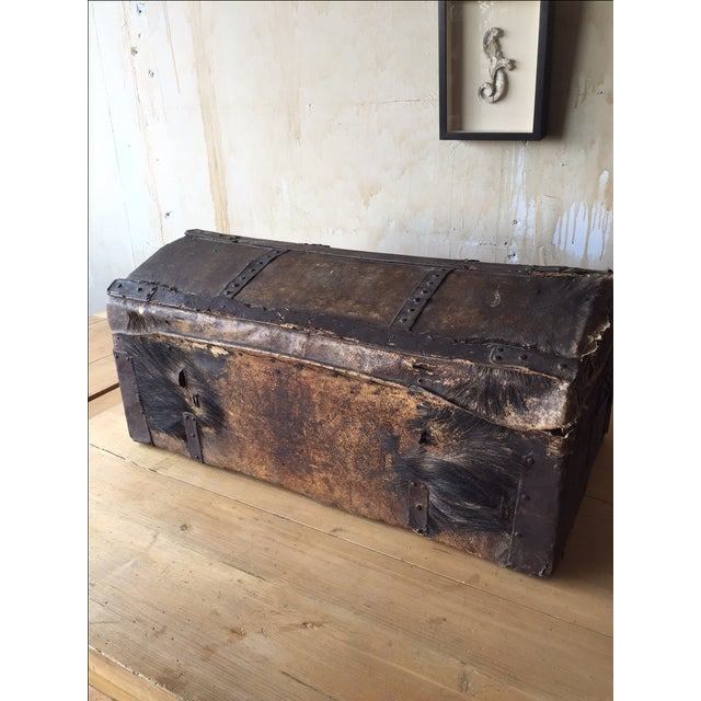 18th Century Antique Italian Trunk For Sale - Image 5 of 7