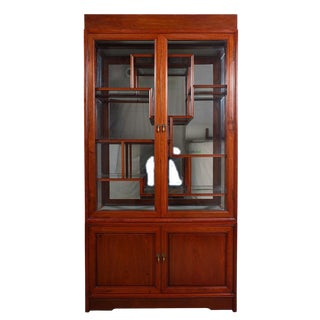 1960s Chinese Rosewood Display/Curio Cabinet For Sale