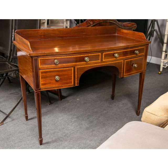 19th C. English Mahogany Inlaid Sideboard For Sale - Image 10 of 10