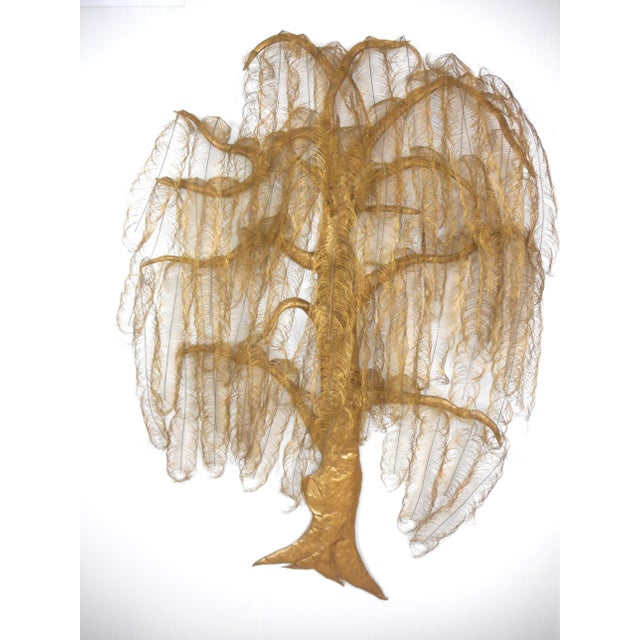Gold Monumental Gold Metal Tree Wall Art Sculpture For Sale - Image 8 of 8