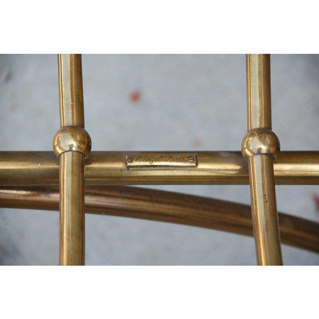 Mid 20th Century Mid Century Siegel Paris Solid Brass Fireplace Wood Rack For Sale - Image 5 of 6