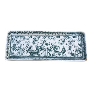Vintage Ceramic Rectangular Tray Made in Portugal For Sale