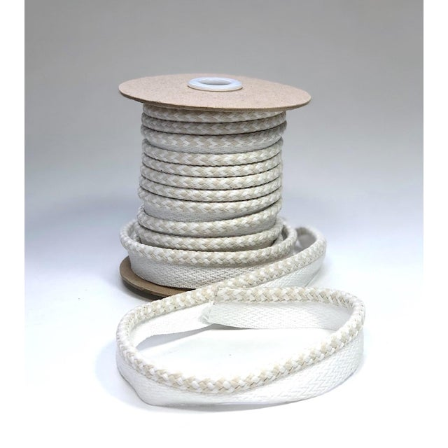 """Braided 1/4"""" Indoor/Outdoor Cord in White/Cream For Sale - Image 10 of 10"""