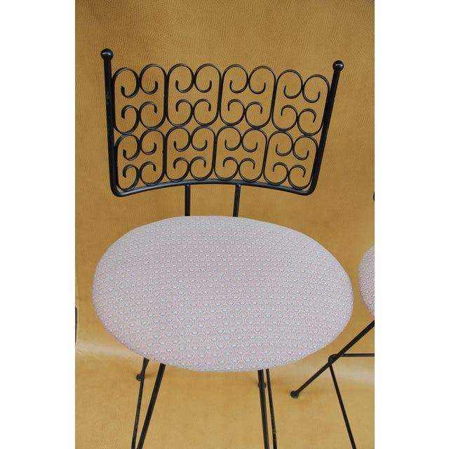 Arthur Umanoff Wrought Iron Bar Stools - A Pair For Sale In Los Angeles - Image 6 of 8