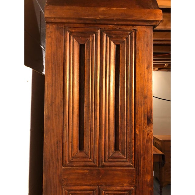 Wood Magnificent Hand Carved Mahogany Gothic Style Bookshelf Cabinet For Sale - Image 7 of 11