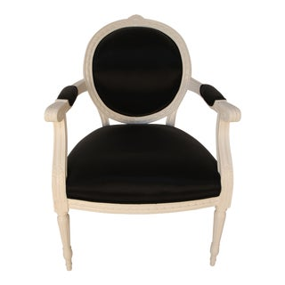 Louis XVI Style White Painted Armchair