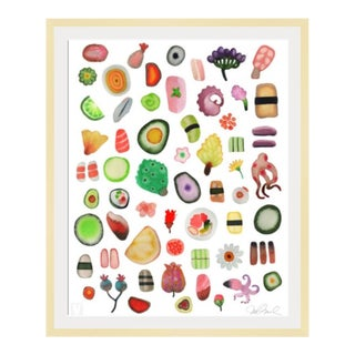 "Sushi Kitchen Giclee Print 27x33"" Watercolor Painting. For Sale"