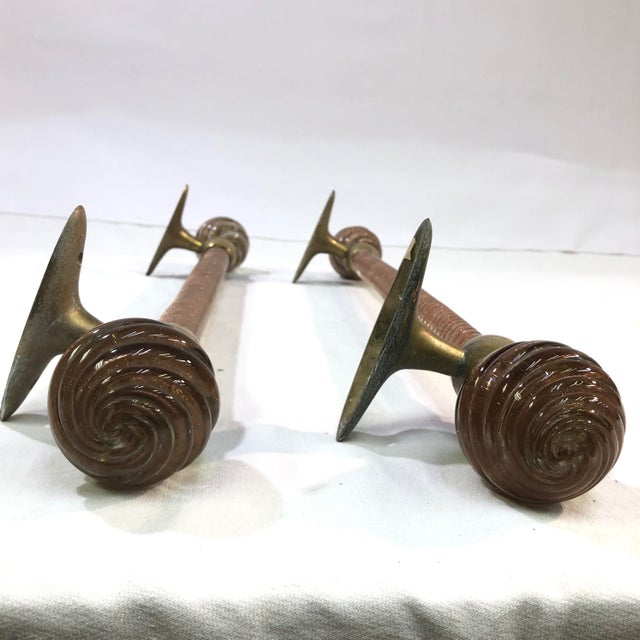 Mid-Century Modern Venetian Murano Glass Towel Bars - a Pair For Sale - Image 3 of 12