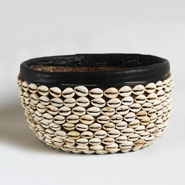 Vintage Cowry Shell Basket - Image 2 of 3