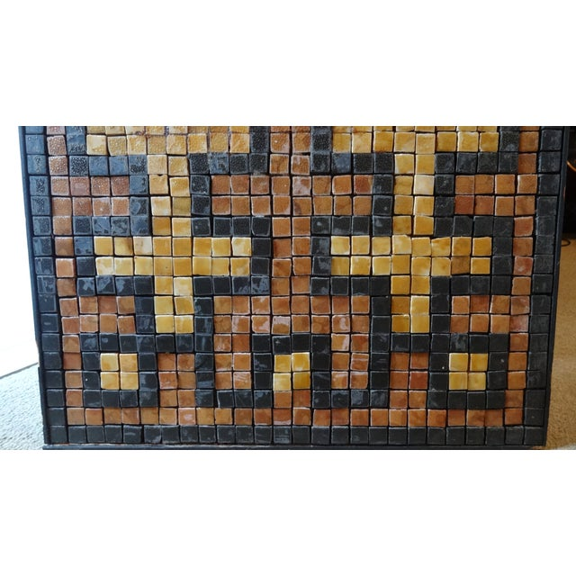 Mid-Century Greek Key Marble Mosaic Wall Art or Table Top For Sale - Image 4 of 12