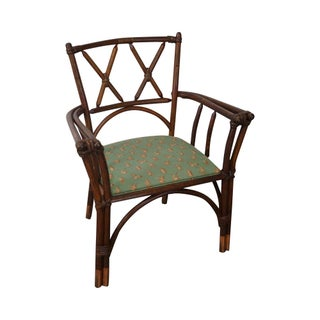 Antique Bent Wood Double X Back Arm Chair