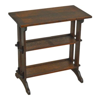 Roycroft Antique Mission Oak Little Journey's Book Stand For Sale