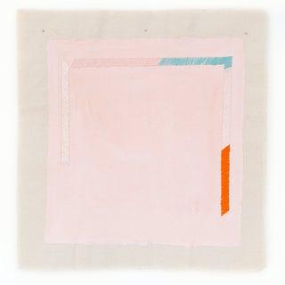 "Minimalist Pink Turquoise and Orange 20"" Fine Art Print For Sale"