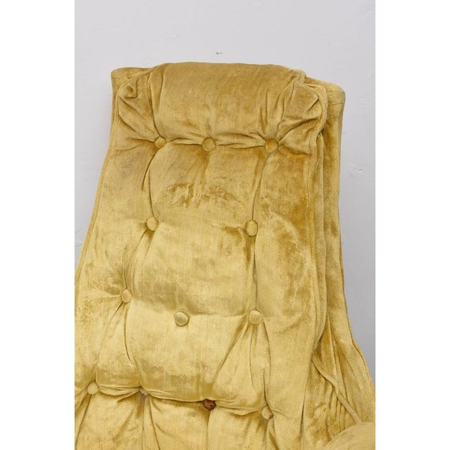 High Back Swivel Tufted Rocker/Lounge Chairs--1960s For Sale - Image 4 of 8
