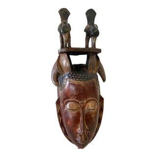 African Guru Portrait Bird Mask Cote d'Ivoire For Sale