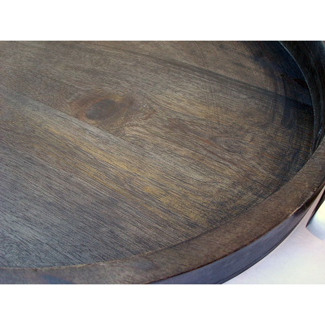 Large Oval Wooden Tray - Image 3 of 5
