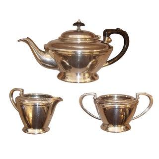 Vintage English Silver Tea Service - Set of 3 For Sale