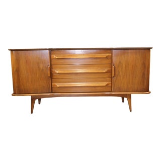 United Furniture Corporation Mid-Century Ash Mahogany Credenza