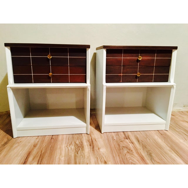 Mid-Century Modern Nightstands - a Pair - Image 3 of 11
