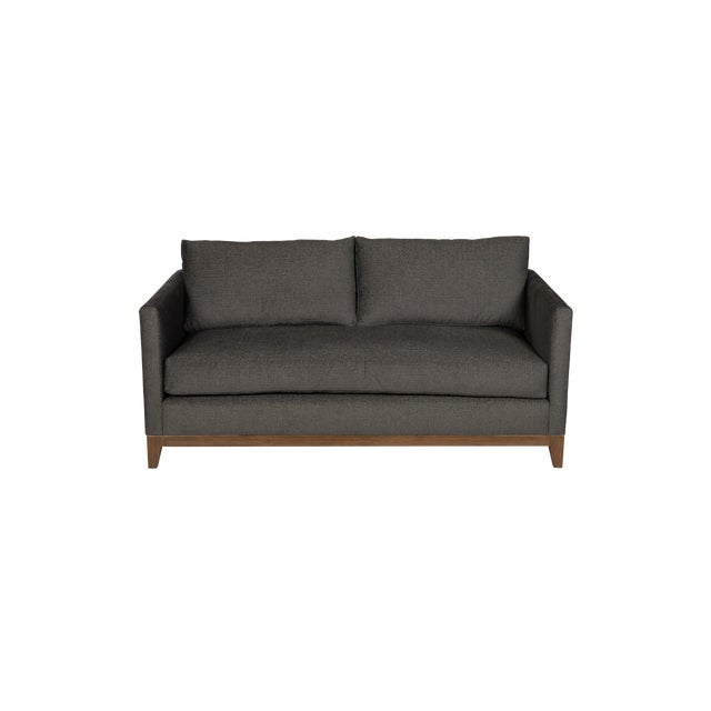 Moss Home Linda Loveseat Crypton Granbury Graphite For Sale In Los Angeles - Image 6 of 7