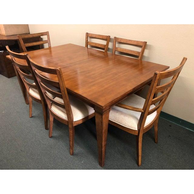 Ethan Allen Dining Set Six Chairs Chairish