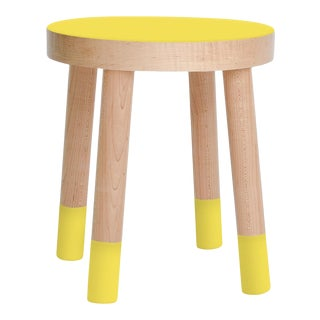 Poco Kids Chair in Maple With Yellow Finish For Sale