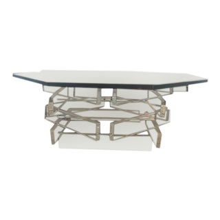 Lucite 'Brick' Coffee Table For Sale