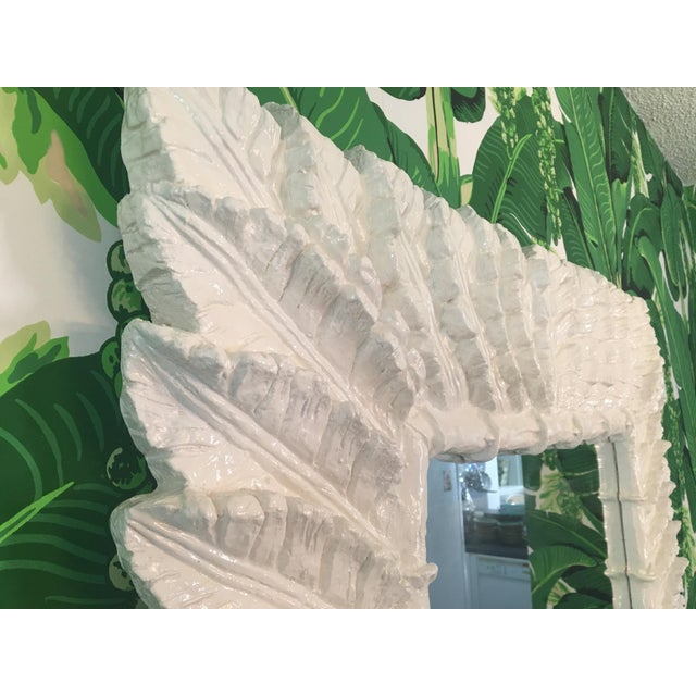Glass Sculptural Palm Leaf Console Table and Mirror After Serge Roche & Dorothy Draper For Sale - Image 7 of 9