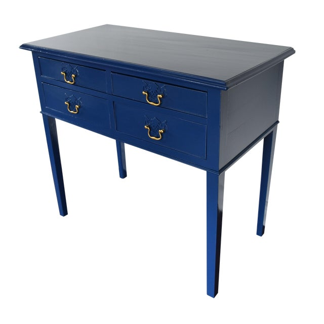 Blue Entryway Console Table For Sale